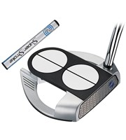 Odyssey Works Versa 2 Ball Fang Lined Putter with SuperStroke Grip