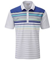 Ping Collection Mens Shaw Engineered Stripe Polo Shirt