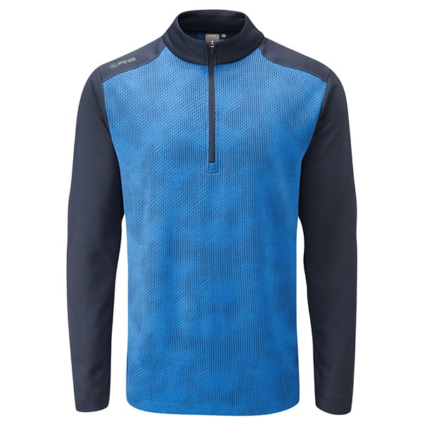 Ping Collection Mens Vertical Haf Zip Pullover