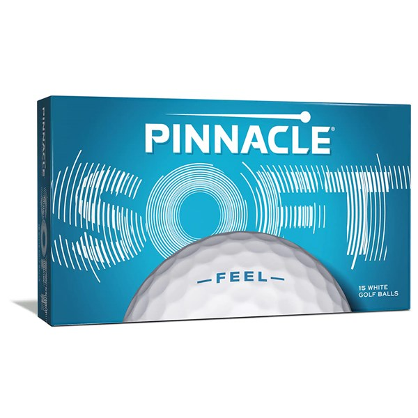 Pinnacle Soft White Golf Balls (15 Balls) 2020