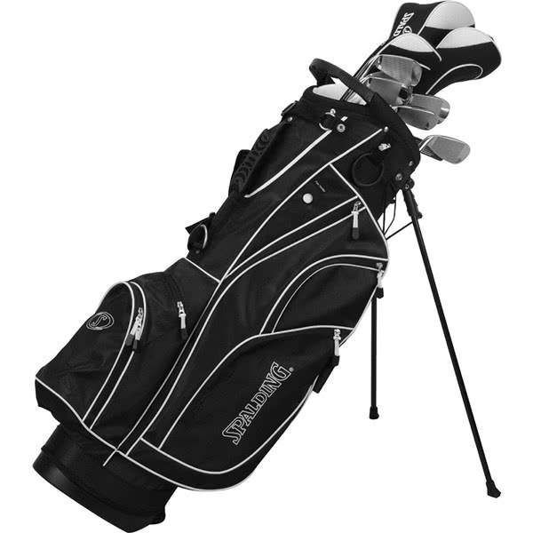 Spalding Tour Black 1 inch Long Complete Package Set (Steel/Graphite)