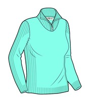Glenmuir Ladies Paula Supersoft Zip Neck Golf Sweater