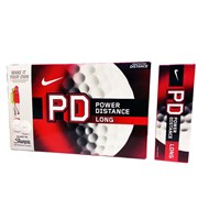 Nike Power Distance PD8 Long Golf Balls 12 Balls with 2 free Sharpies