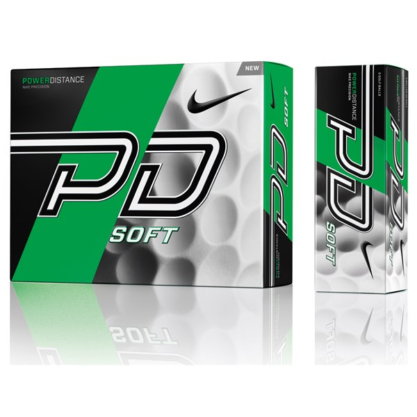 Nike Power Distance PD9 Soft White Golf Balls (12 Balls)