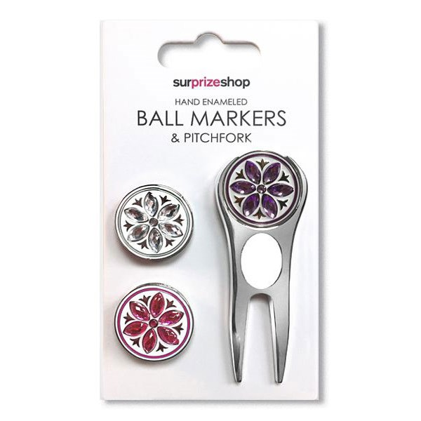 Ball Marker and Pitchfork Set