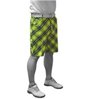Royal And Awesome Mens Plaid Electric Shorts