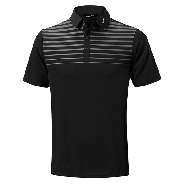 Mizuno Mens Breath Thermo Pattern Polo Shirt