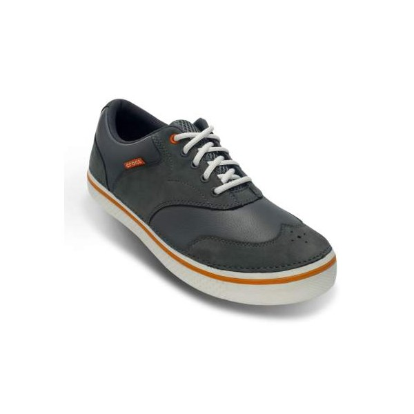 61f4c5f96099 Crocs Mens Preston Golf Shoes (Charcoal Orange). Double tap to zoom. 1 ...