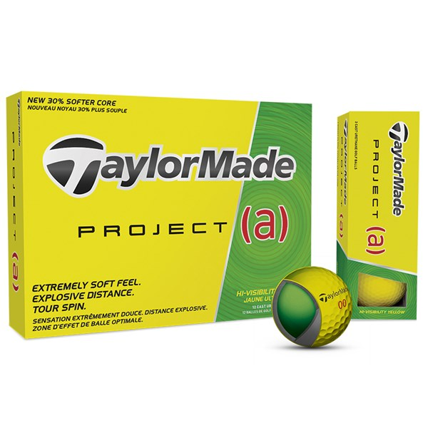 TaylorMade Project (a) Yellow Golf Balls (12 Balls) 2017