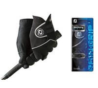 FootJoy Mens RainGrip Golf Gloves (Black)