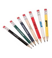 Round Personalised Pencils With Eraser  144 Pack