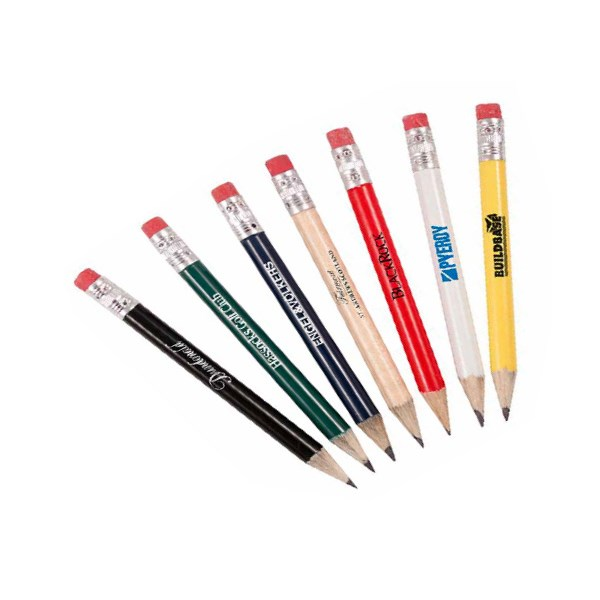 Round Personalised Pencils With Eraser (144 Pack)