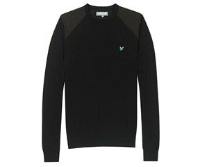 Lyle and Scott Mens Quilted Shoulder Sweater