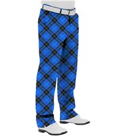 Royal And Awesome Blue Plaid Trews Golf Trouser