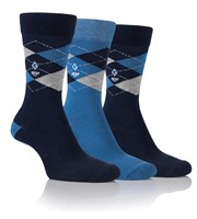 Glenmuir Mens Argyle Jacquard Sock Gift Box  3 Pair