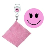 Pink Smiley Face Retractable Towel