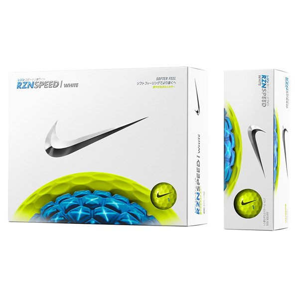 Nike RZN Speed White Volt Golf Balls (12 Balls)