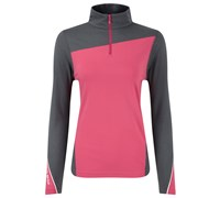 Ping Collection Ladies Shannon Half Zip Top (Pink/Grey)