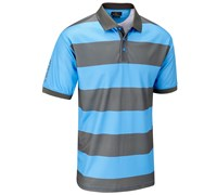 Stuburt Mens Urban Stripe Polo Shirt (Electric Blue)
