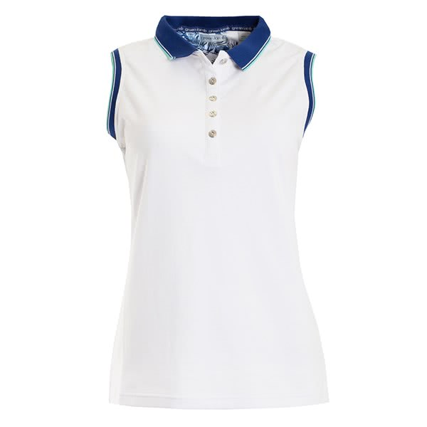 Green Lamb Ladies Paulina Club Sleeveless Polo Shirt