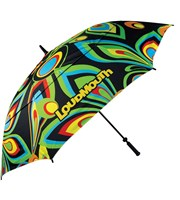 LOUDMOUTH 64 inch Double Canopy Shagadelic Umbrella