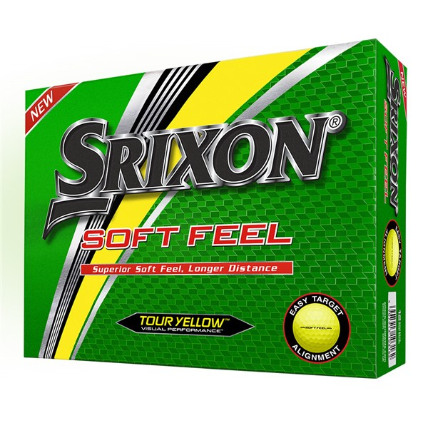 Srixon Soft Feel Yellow Golf Balls (12 Balls) 2019