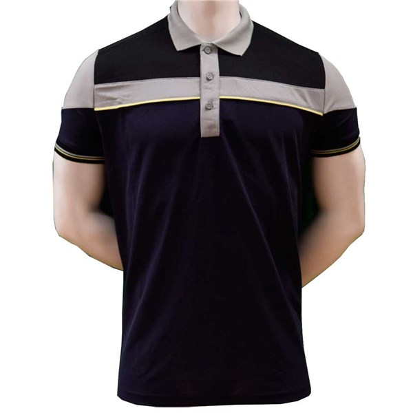 Sunderland Mens Puffin Block Colour Panel Stripe Polo Shirt