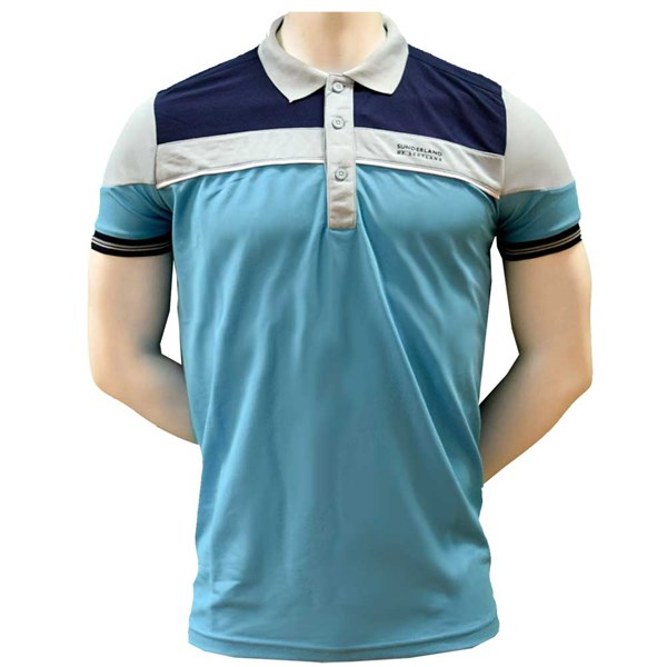 ef8301ab Sunderland Mens Puffin Block Colour Panel Stripe Polo Shirt. Double tap to  zoom. 1; 2; 3