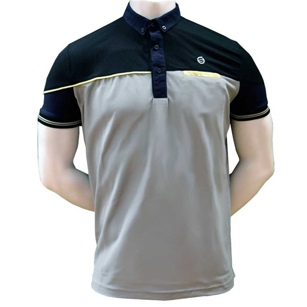 Sunderland Mens Hawk Eye Solid Colour Piping Insert Polo Shirt