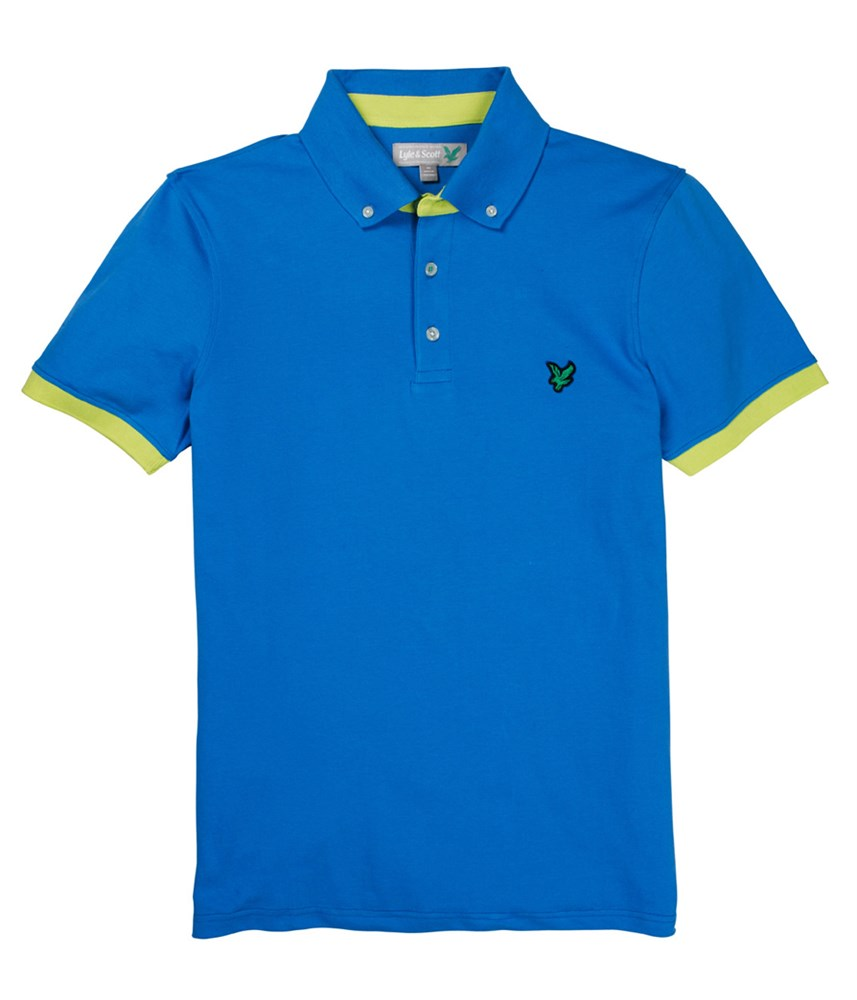 Lyle and scott mens button down collar polo shirt 2014 for Button down collar golf shirt