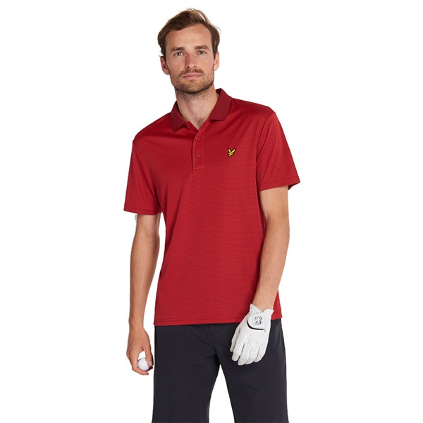 Lyle and Scott Mens Microstripe Polo Shirt