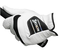 Srixon Cabretta Leather Gloves Ultimate Fit & Feel (Black/White)