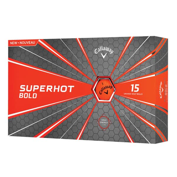 Callaway Superhot Bold Matte Orange Golf Balls (15 Balls) 2018