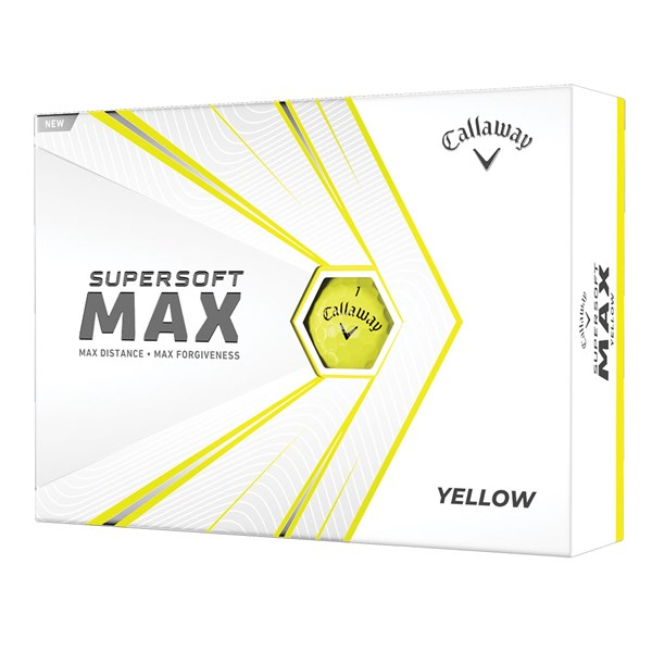 Callaway Supersoft Max Yellow Golf Balls (12 Balls)
