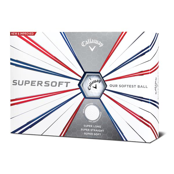 Callaway Supersoft Golf Balls (12 Balls) 2019 - Logo Overrun
