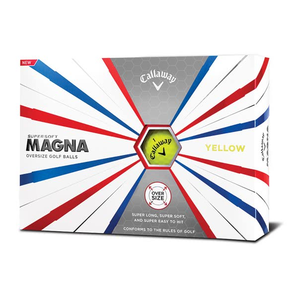 Callaway Supersoft Magna Yellow Golf Balls (12 Balls) 2019