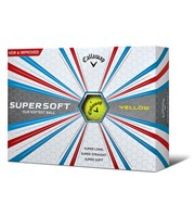 Callaway SuperSoft Yellow Golf Balls 2017  12 Balls
