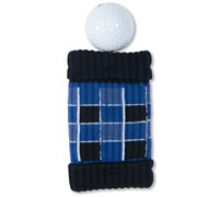 GreenSleeve Pocket Golf Ball Cleaner and Club Cleaner (Tartan (Blue Black White))