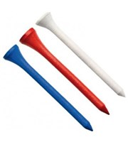 Mixed Colour Golf Wooden Tees 69mm  20pk