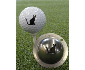 Tin Cup Ball Marker - Nine Lives
