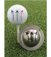 Tin Cup Ball Marker - Draw Straight Fade