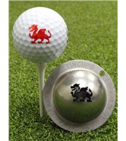 Tin Cup Ball Marker - Firebreather
