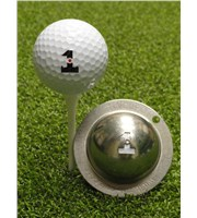 Tin Cup Ball Marker - Hole in One