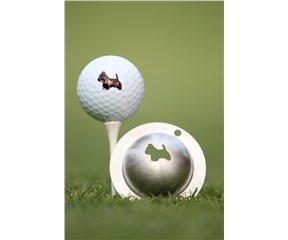 Tin Cup Ball Marker - Scotty the Terrier