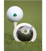 Tin Cup Ball Marker - Shamrock