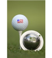 Tin Cup Ball Marker - Stars and Stripes
