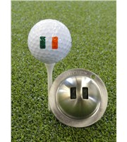 Tin Cup Ball Marker - World Flags
