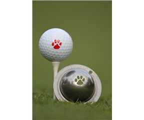 Tin Cup Ball Marker - Paw Print