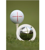 Tin Cup Ball Marker - Sharp Shooter