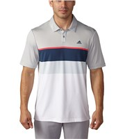 Adidas Mens climacool Engineered Striped Polo Shirt